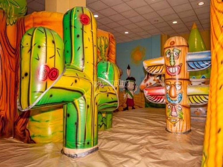 Cactus and totem