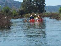 Navegar en piragua en el pantano