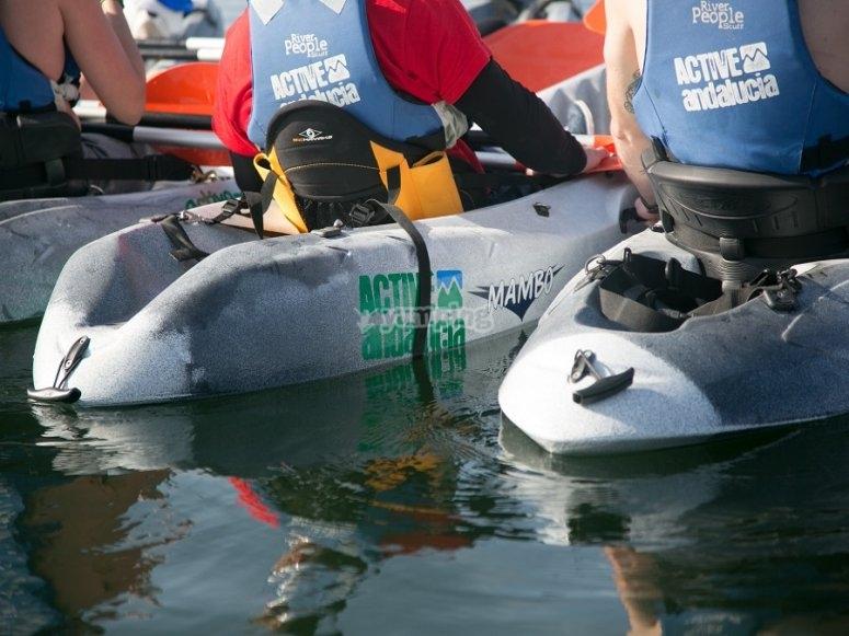Iniciando la ruta en kayak