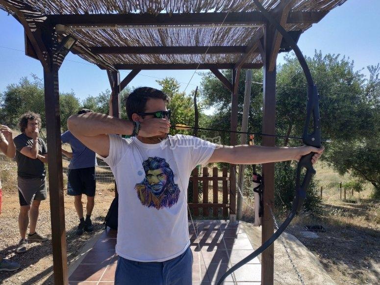 Sesión de tiro con arco
