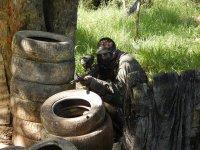 Trinchera con neumáticos