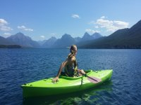 Probando las rutas en kayak