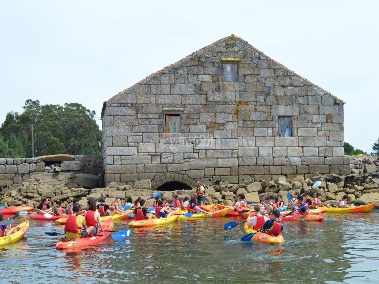 Kayaking in Arousa
