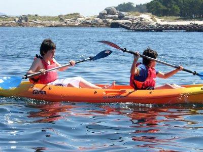 半天到达Areoso小岛的皮划艇路线