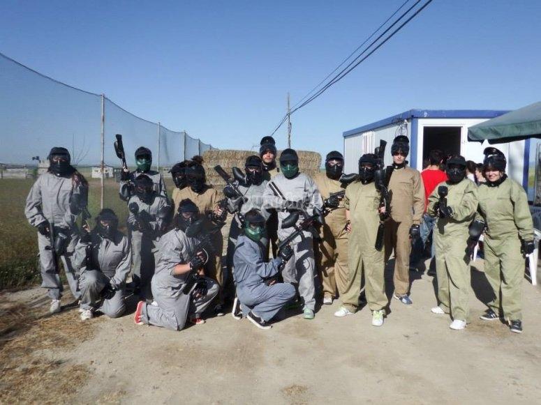 塞哥维亚彩弹射击队的分组