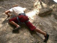 Climbing the rock
