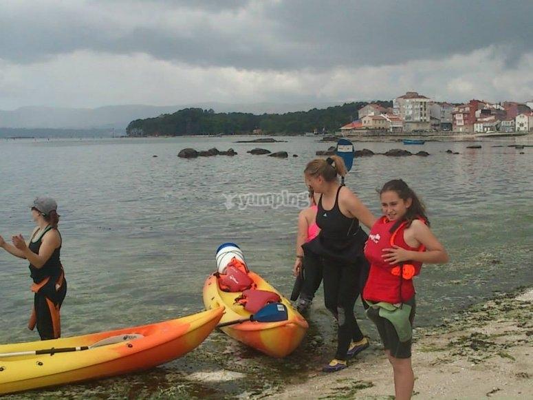 Kayak excursion in Pontevedra