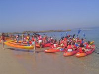 Kayaks in the coast