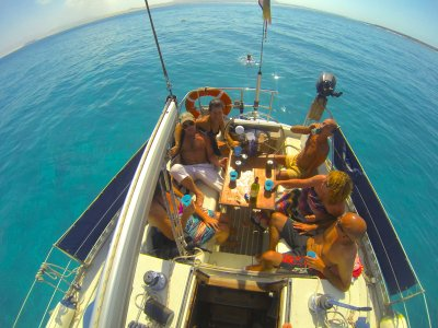 在帆船上的单身派对,Isla de Lobos