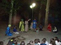 Clases de teatro en el campamento