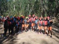 Grupo de campamento de aventura