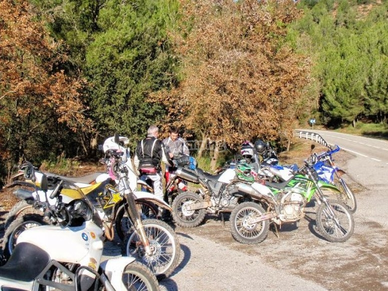 Enduro motorcycle tour