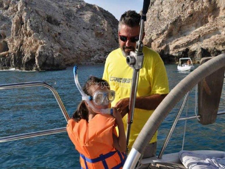 Preparados para el snorkel