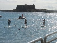 Paddle surf a Lanzarote