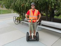 On segway with safety vest