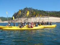 Salida en canoa niños
