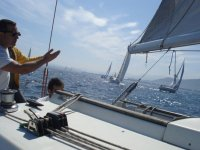 Travesia entre distintas embarcaciones