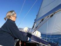 Maniobrando en el barco