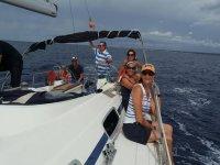 Compartiendo viaje en cubierta