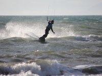 surfeando con paracaidas