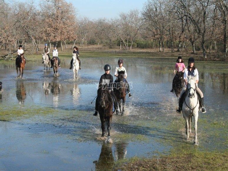 Paseo a caballo por Monfragüe 2011