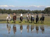 Ruta a caballo por el parque natural