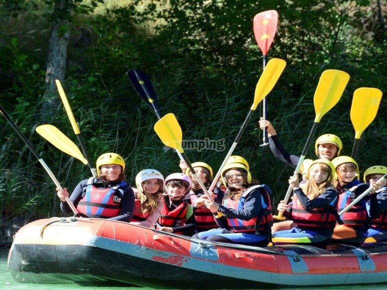 Rafting descend in Mallos de Riglos