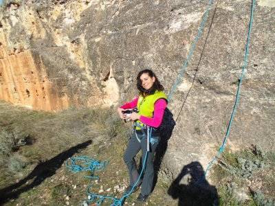 Sports climbing course in Segovia, initiatory