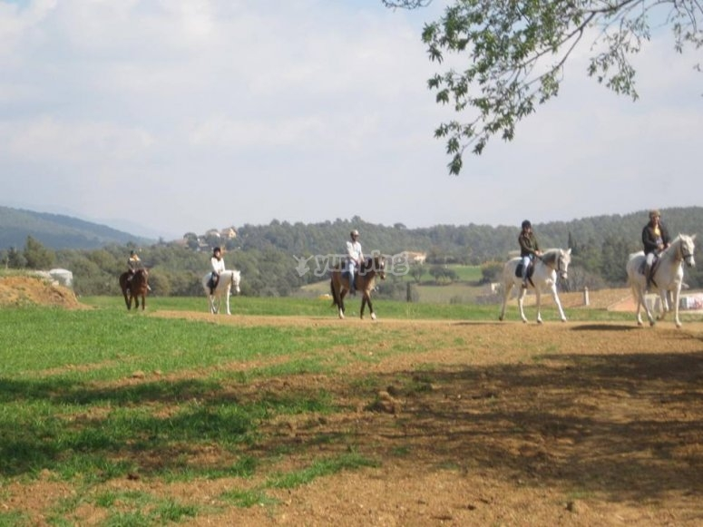 En Montseny a caballo