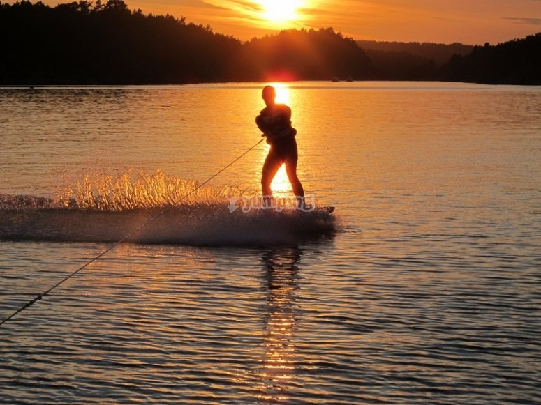 Wakeboard with sunset