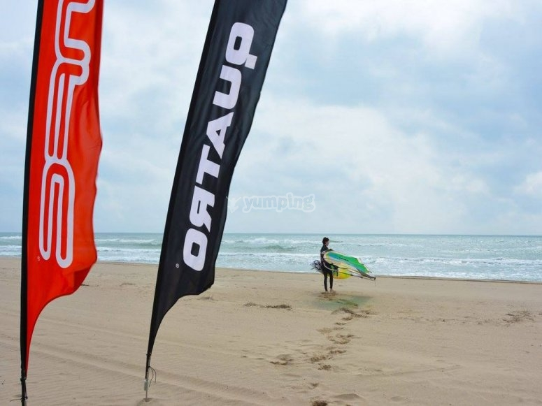 Windsurfing flow watersports