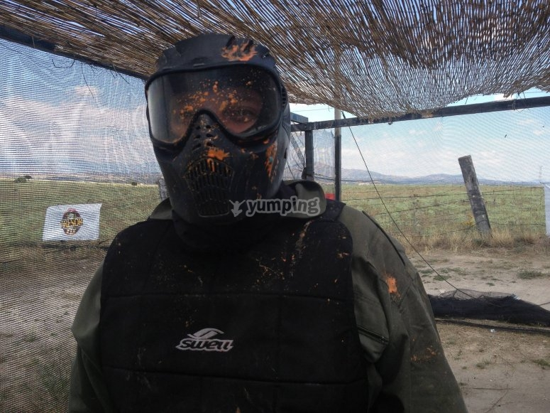 Paintball´s player eliminated