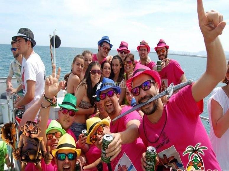 Fiesta en el barco en Gandia