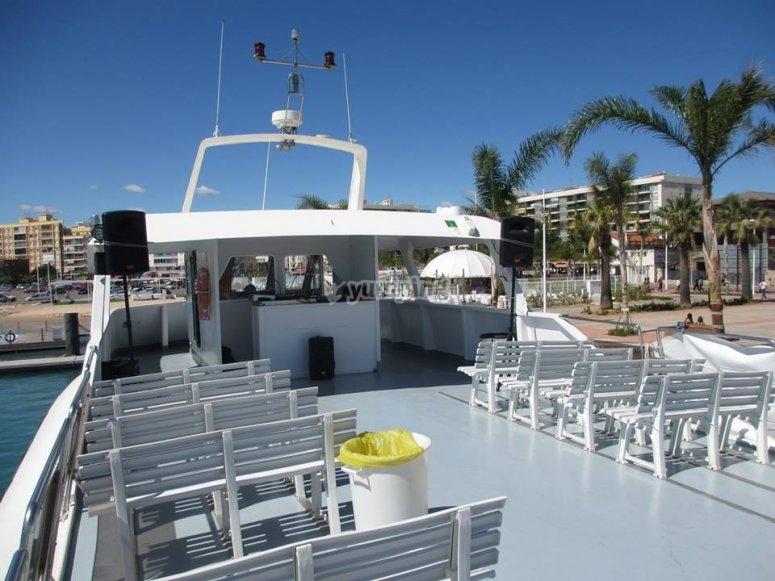 Barco antes de la fiesta