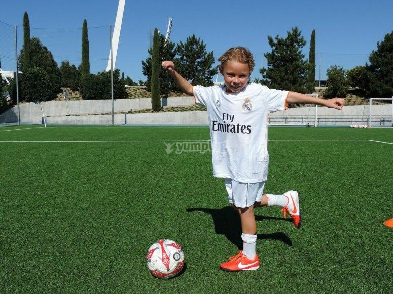 Madera de futbolista