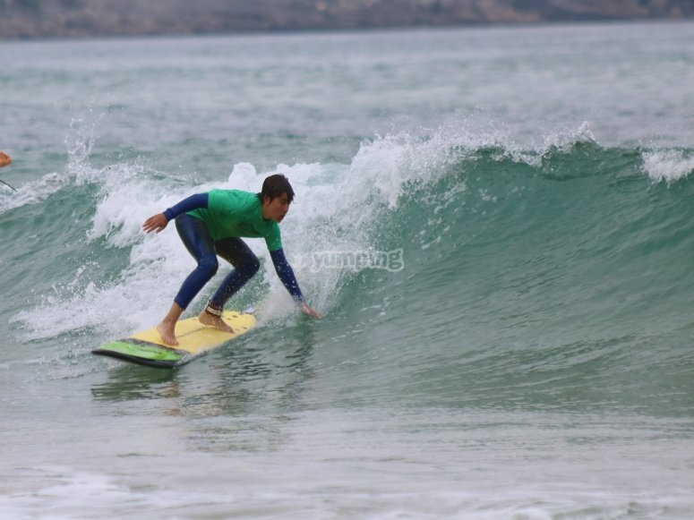 Surfing in Los Locos