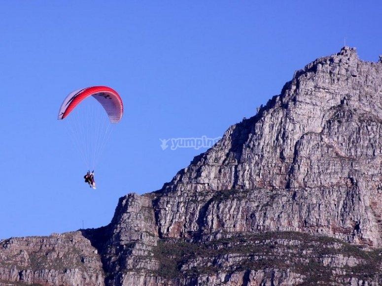 2-seater paraglide near Barcelona