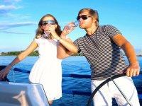 celebracion en barco