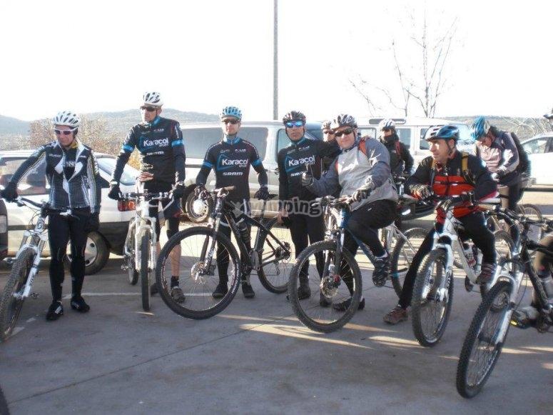 Partenza in mountain bike