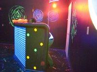 Interior del campo laser