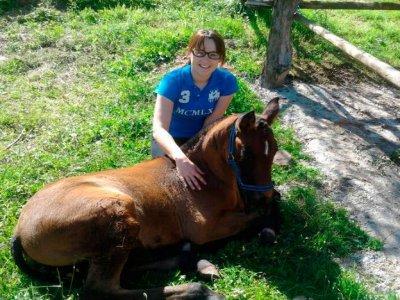 Paseo a caballo de iniciación en Burgos