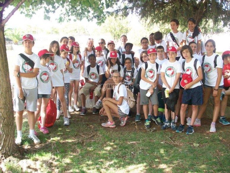 Los alumnos del camp