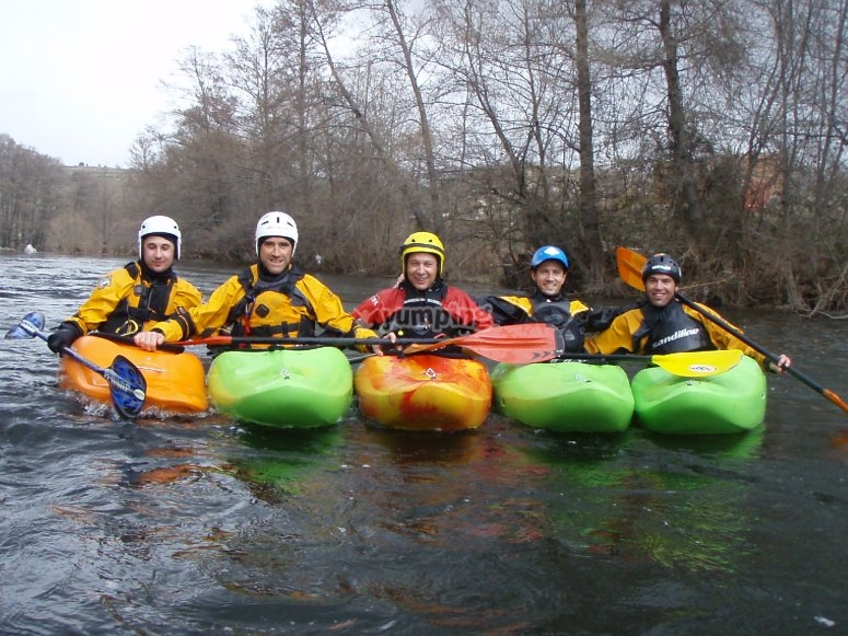 Kayaking in group, great experience