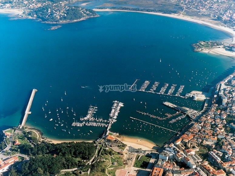 Vista aerea de baiona