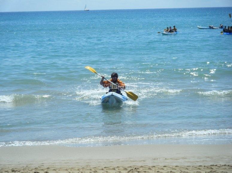 Kayak en Tamarit