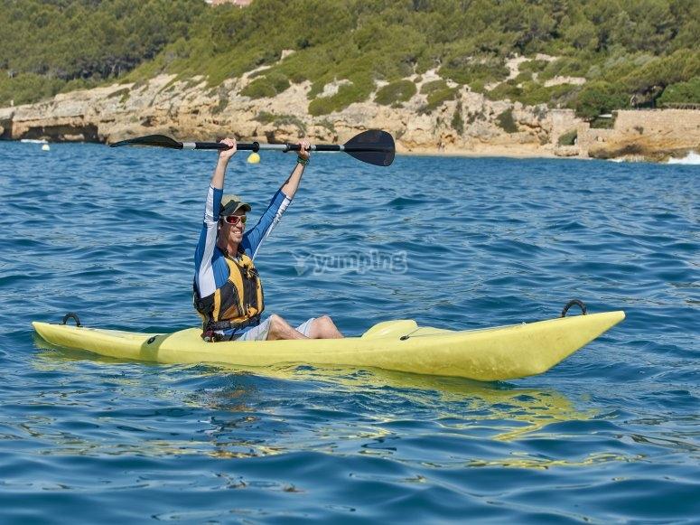 Alquiler de kayak en playa Tamarit