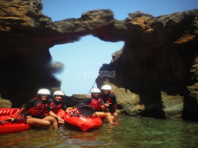 Ruta en kayak grupos cuevas Dénia