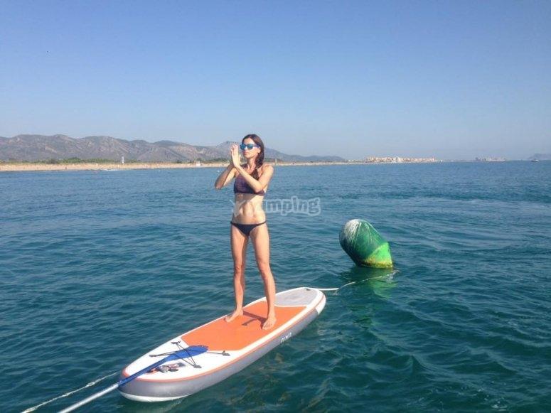 Ejercicios de paddle surf
