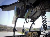 Cabina del helicoptero