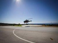 Despegue en helicoptero